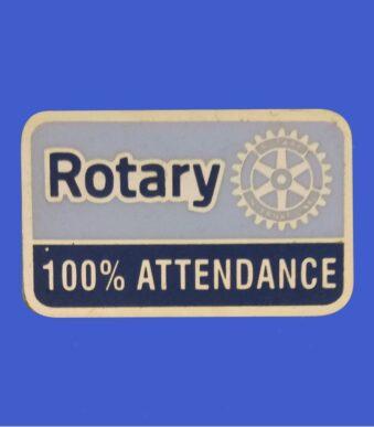 100% Attendance Pin