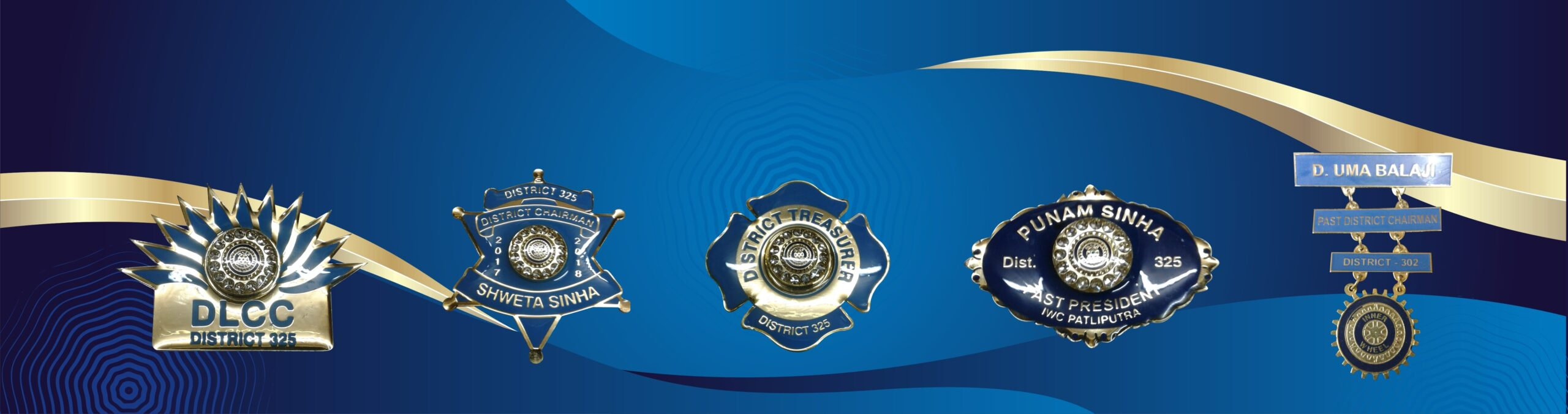 Inner Wheel Name Badges